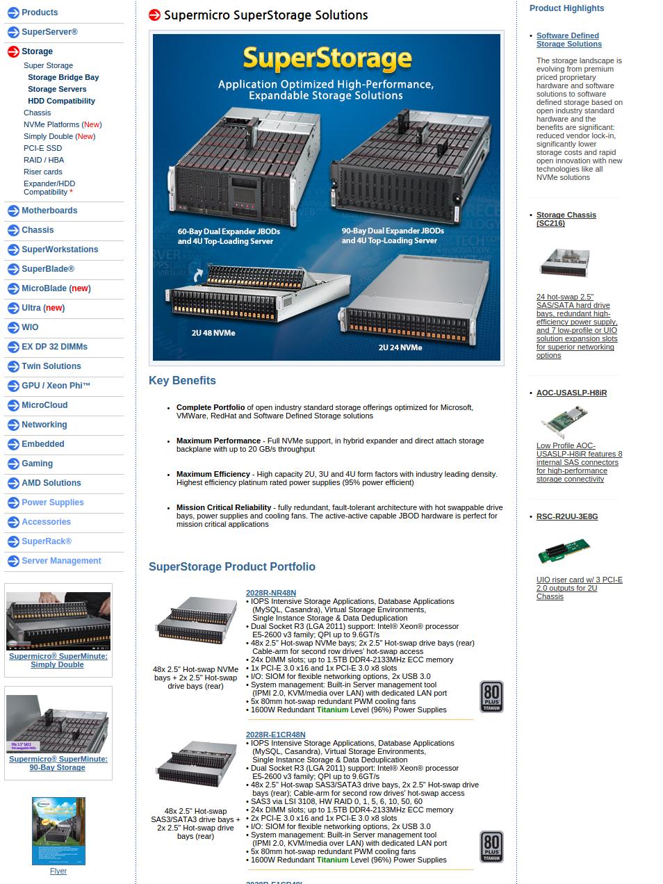 화면-Super Micro Computer, Inc. | Products | Supermicro Storage Chassis Solutions - Chrome